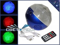 Беспроводная bluetooth колонка Magic Color Ball Speaker с цветомузыкой с mp3 USB  синий корпус