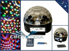 "Диско шар с mp3 ""Led Magic Ball Light"" 6 цветов с USB"